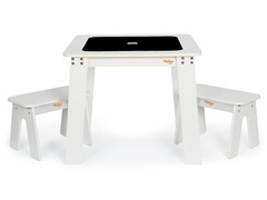 P'Kolino White Chalk Table and Benches