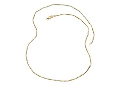 18 kt Gold Plated SS Italian Diamond Cut Bead 3+1 Chain