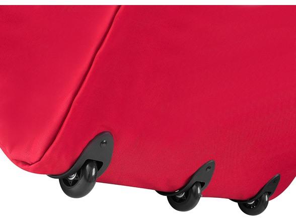 Elf Stor Premium Red Rolling Christmas Tree Storage Duffel Bag for 9 Ft Tree