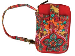 Marrakech Wristlet Damask Red