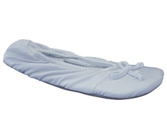 Women's Stretch Satin Ballerina Slipper, Blue