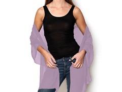 Kitara Silky Chiffon Wrap, Lavender