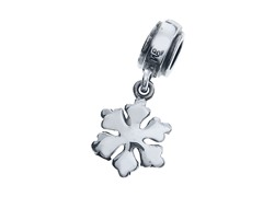 Sterling Silver Danglign Snowflake Charm