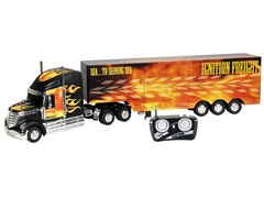 RC Truck & Trailer-Flames