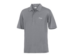 Fila Men's Heathered Polo - Grey (S,M)