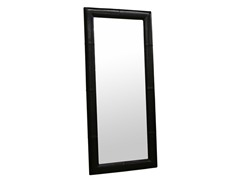 Egeus Black Leather Frame Floor Mirror