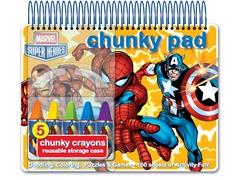 Marvel Heroes Chunky Pad with Jumbo Crayons