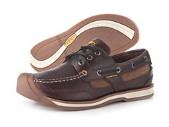 Men's Newport Boat Shoe - Red Brown