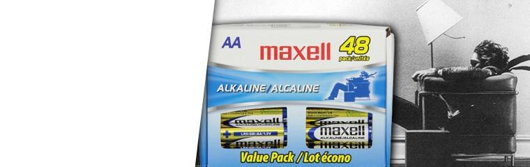 Maxell Alkaline Battery AA - 48 Pk