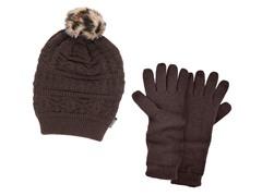 MUK LUKS® Beanie with Texting Glove,Java