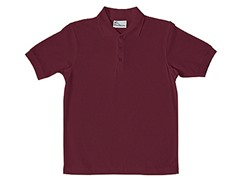 Boys Pique Polo - Burgundy (Sizes XS-L)