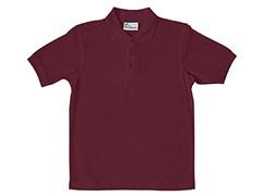 Boys Pique Polo - Burgundy (Sizes XS-L)