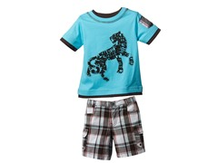 Big Cat 2-Piece Short Set (12-24M)