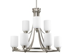 Orbit Collection Chandelier, Nickel