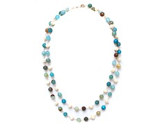 SS Agate & Freshwater Pearl Necklace