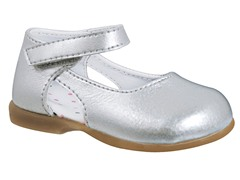Silver Ankle Strap Skimmer (Tod 2-6)