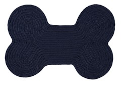 Navy Dog Bone Solid Rug - 3 Sizes