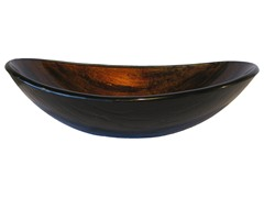 Vole Glass Vessel Sink, Warm Brown Camouflage