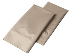 1000 TC Pillowcases-Standard-Set of 2-Pecan