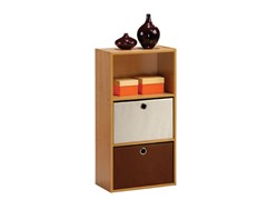 Tiada No Tools 3-Tier Shelf  w/Bin Oak