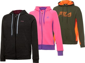 Fila Men's and Women's Plaited Hoodies