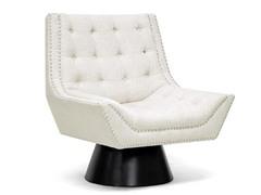 Tamblin Beige Linen Modern Accent Chair