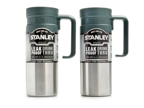 Stanley 16oz Stainless Steel Leak Proof Travel Mug 2 Pack