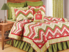 Wavy Spice Full/Queen Quilt Set