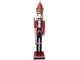 "Santa's Workshop 48"" Nutcracker w/Scepter"