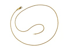 18 kt Gold Plated SS Italian Diamond Cut Rope Chain