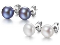 Mestige Freshwater Pearl Earrings Set