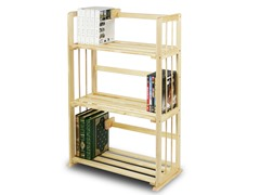 Pine Solid Wood 3 Tier Bookshelf