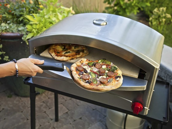 Camp chef pzoven outdoor artisan pizza oven with 5 piece accessory kit