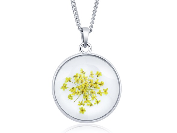 Beverly Hills Silver Glass Baby's Breath Necklace