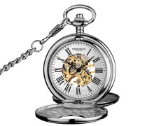 Akribos XXIV Skeleton Pocket Watch