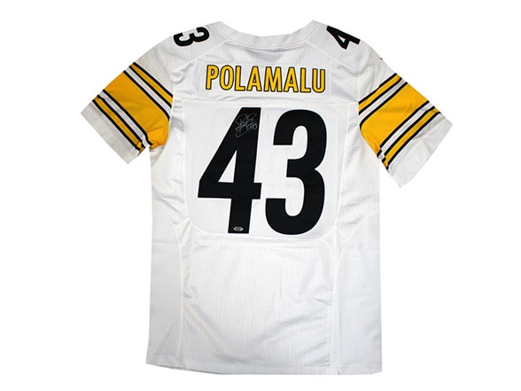 63ae77607 Troy Polamalu Steelers Signed jersey