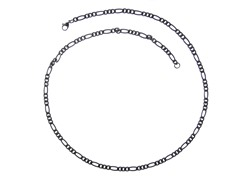Steel Small Figaro Chain