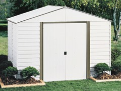 10' x 8' Steel Storage Shed with Skylight