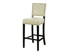 Napa Bicast Leather Bar Stool - White