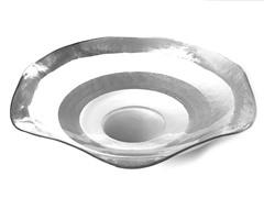 """Wave Bowl 14"""" Silver Rim"""
