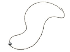 SS Sparkle Bead & Tahitian Pearl Necklace