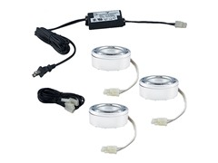 3-Light Halogen Puck Kit, White
