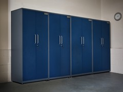(4) Tall Steel Cabinet Set