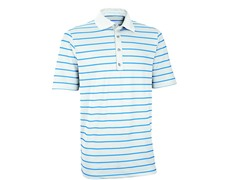 Performance Stripe Golf Shirt - White/Ash