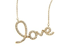 "18kt Gold Plated ""LOVE"" Necklace"