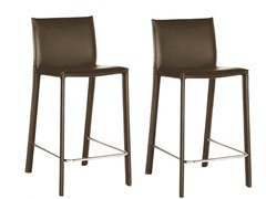 Ferdinand Leather Counter Stool S/2