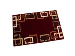 "Syntax 7'9"" x 9'9"" Area Rug -  Burgundy"