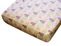 Cotton Crib Sheet - Wild Thing