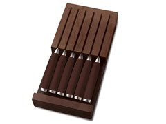 Fiesta 6-Pc. Steak Knife Sets - Chocolate