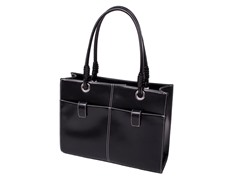 Angelina Faux Leather Business Tote